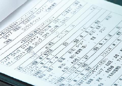 カウンセリング表の記入とそれを元にしたカウンセリング
