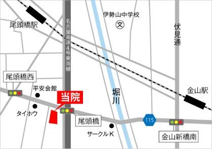 JR金山駅(名鉄金山駅)から徒歩約10分