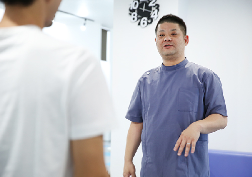 お体の状態と肩こり改善の説明・施術方法の説明