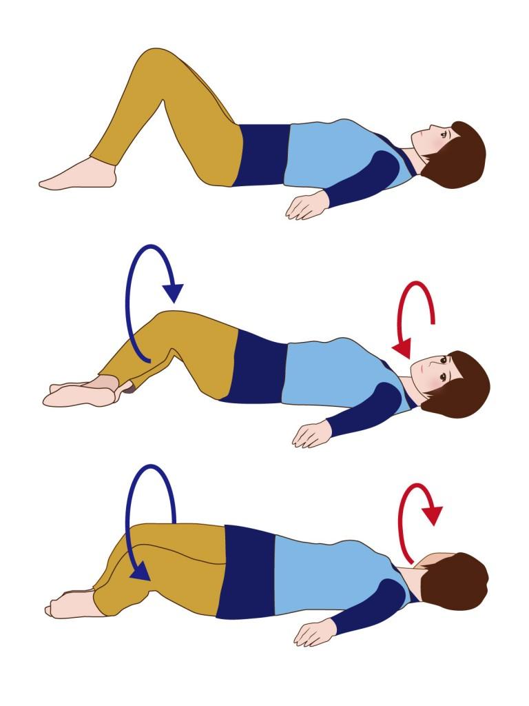 膝倒し運動